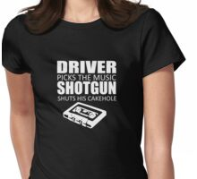 Driver Picks The Music Womens Fitted T-Shirt