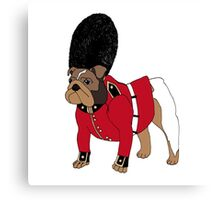 British Bulldog Guard Canvas Print