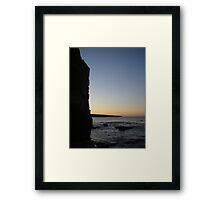 Dusk at Thurso bay Framed Print