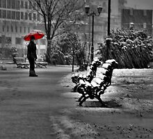 Red umbrella... by Tania Koleska