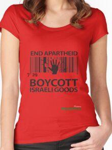 BOYCOTT ISRAELI GOODS Women's Fitted Scoop T-Shirt
