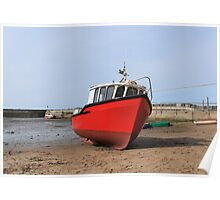 Red Boat at Staiths Poster