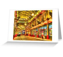 Where is Diagon Alley? - Leadenhall Market Series - London - HDR Greeting Card