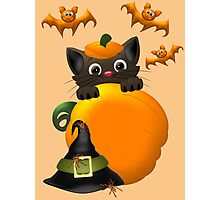 The Witches Cat  Photographic Print
