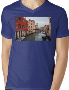 A Gray Day in Venice Mens V-Neck T-Shirt