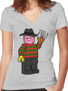Horror Toys - Freddy Women's Fitted V-Neck T-Shirt