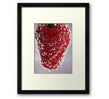 Bubble Strawberry... Framed Print