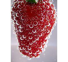 Bubble Strawberry... Photographic Print