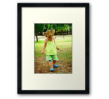 my blue shoes Framed Print