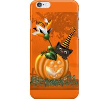 Cheeky Halloween Cat iPhone Case/Skin