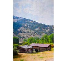 Historic Cabins In Bannack Photographic Print