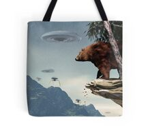 Do Aliens Get Grizzly? Tote Bag