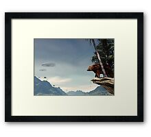 Do Aliens Get Grizzly? Framed Print
