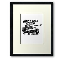 They see rollin they heilin Framed Print