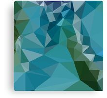 Bright Turquoise Blue Abstract Low Polygon Background Canvas Print