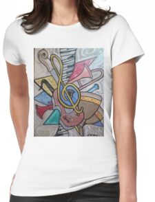 Musical Vibes Womens Fitted T-Shirt