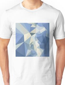 Columbia Blue Abstract Low Polygon Background Unisex T-Shirt