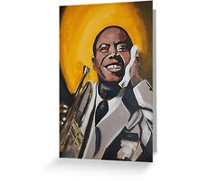 A Young Louis Armstrong Greeting Card