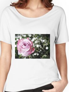 Beautiful Pink Rose Women's Relaxed Fit T-Shirt