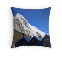 Himalaya roofs Throw Pillow