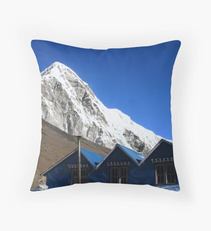 Himalaya roofs Throw Pillow