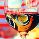My breakfast is reflected in a glass of dry wine.What is reflects here?? by Iuliia Dumnova
