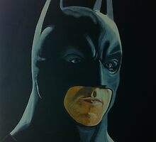 Christian Bale as The Dark Knight by Okse