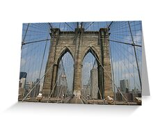 Brooklyn Bridge, New York, NY Greeting Card