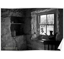 Winter Light - Irish Cottage Interior, County Down Poster