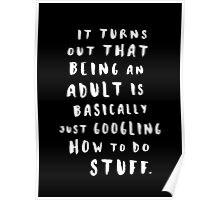 Being An Adult Poster