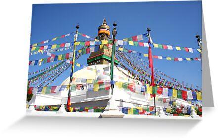 Kathmandu Buddhist temple by beavo