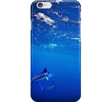 Bait balling striped marlin iPhone Case/Skin
