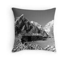 Himalayan shack Throw Pillow