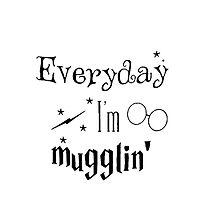 Everyday I'm Mugglin harry potter by shopgento