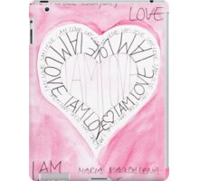 Manifesto »I AM LOVE« iPad Case/Skin