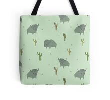 Bison Pattern Pistachio Tote Bag