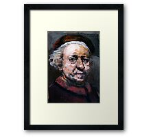 Study of Rembrandt Framed Print