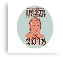 Chris Christie President 2016 Oval Canvas Print