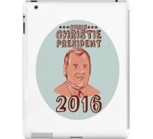 Chris Christie President 2016 Oval iPad Case/Skin