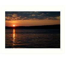 Sunset over Lake Jordan, North Carolina Art Print