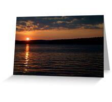 Sunset over Lake Jordan, North Carolina Greeting Card