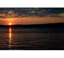 Sunset over Lake Jordan, North Carolina Photographic Print