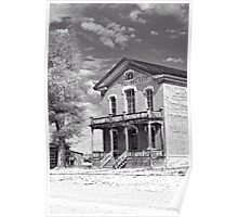 Historic Hotel Meade - Black and White Poster