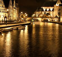 Ghent by Night - Ghent, Belgium by rwneal