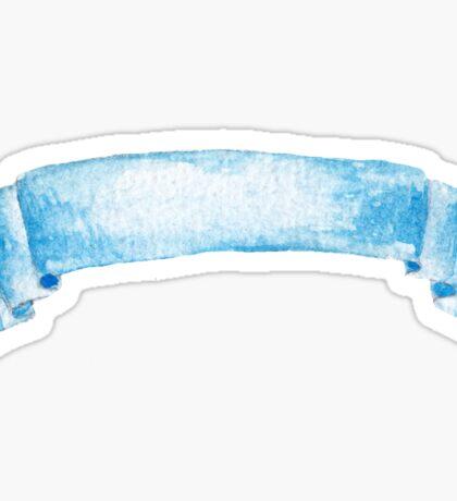 Watercolor ribbon Sticker