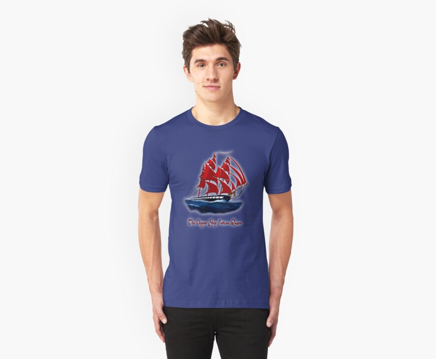 The Clipper Ship Indian Queen T-shirt, etc. design by Dennis Melling