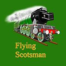 The Flying Scotsman with Blinkers travel mug, etc. design by Dennis Melling