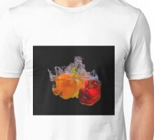 Dropping Bell Peppers In To Water To Create A Splash  Unisex T-Shirt