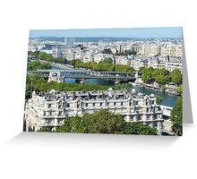View from Eiffel Tower, Paris, France Greeting Card