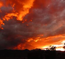 Man In the Sunset Over Pike's Peak...Colorado Springs by dfrahm